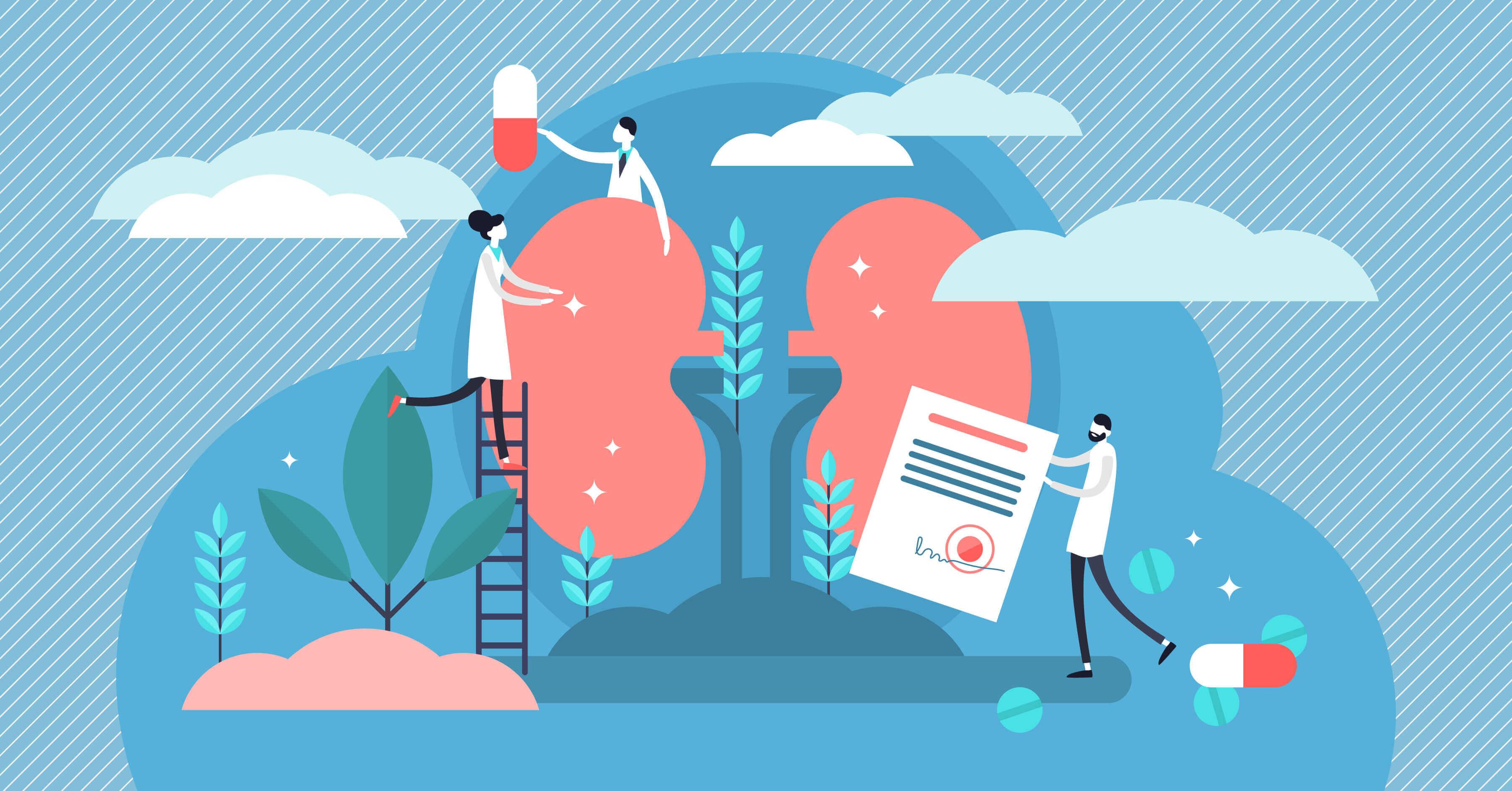洗腎原因:慢性腎臟病導致